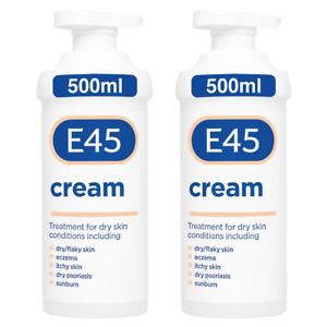 2 x E45 Cream Pump - 500g - Dermatological (Value Pack) UK STOCK