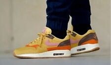"NIKE AIR MAX 1 SIZE UK 9 EUR 44 ""WHEAT GOLD/BAROQUE BROWN/RUST PINK ."
