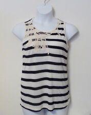 NEW Po Pori Embroidery Women's Sleeveless Shirt Tank Top POPORI Black Medium