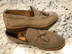 Charles Tyrwhitt Tan  Sued Tassel Loafers Men's ( 8.5 D)