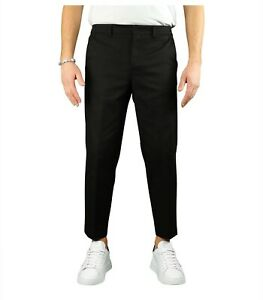 Paolo Pecora Black Carrot Fit Trousers  Man