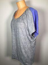 Icebreaker Women's Gray Blue T Shirt Short Dolman Sleeve Top Size L