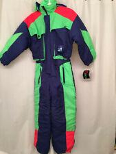 80s Retro ski snow suit Badge 12 medium BNWT women girl purple