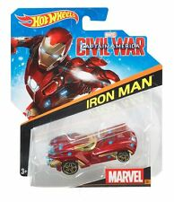 Hot Wheels 2016 1:64 Character Cars Marvel #26 Civil War Iron Man (Asst. BDM71)