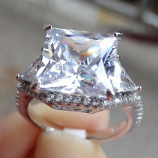 Silver Princess White Cz Sz 8 Newshe Wedding Engagement Ring 5.3ct 925 Sterling