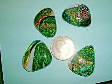 B 7 Dichroic glass cabochons, extra special colors low price