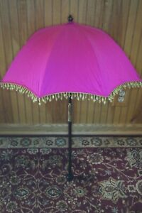 Rare Deborah Lewis San Francisco  umbrella parasol decorative beads Excellent