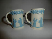 Two Early 20th Century Wedgwood Miniature Salesman Samples Queens ware Jugs