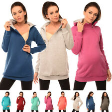 Purpless Maternity 2in1 Pregnancy and Breastfeeding Hoodie With Zips B9052
