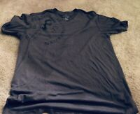 Marc Ecko Cut And Sew Gray Graphic V Neck T Shirt - Men's Size L