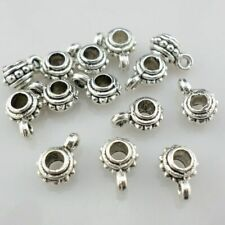 80pcs Tibetan Gold/Silver Connectors Spacer Beads Charms Pendnats 4x7x9mm