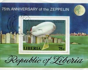 Stamp of Liberia  75th Anniversary of the Zeppelin