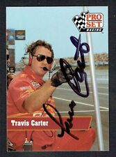 Travis Carter #84 signed autograph auto 1991 Pro Set NASCAR Trading Card