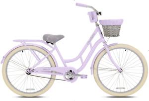 "BCA 26"" Charleston Women's Cruiser Bike, Lavender Fast Free Shipping New arrive"
