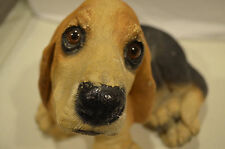 """VTG.1984 Collectible Basset Hound Sculpture Classic Critters-UDC- 8""""Tall- 6 lbs"""