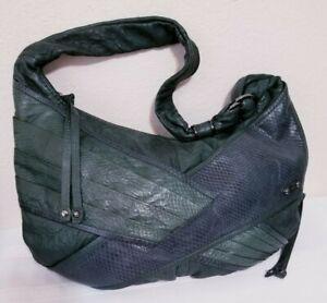 RAFE NEW YORK CROC SNAKE EMBOSSED Genuine Leather SHOULDER BAG Handbag PURSE