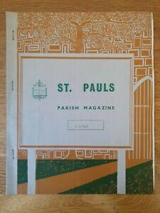 Parish Magazine St Paul's Finchley 1967. Has been folded in half in past.