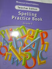 Harcourt Storytown Spelling Practice Book Teacher Edition 5th Grade Level 5