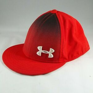 2 Under Armour Red Baseball Caps, SM/Youth, Pre-Owned, NICE!