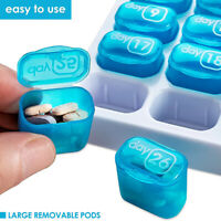 1xMonthly Pill Organizer 31 Days Pill Organizer With Large Removable Pill Box US