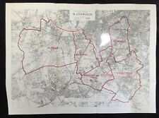 Wandsworth London 1917 Original Boundary Commission Map