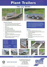 2002 IFOR WILLIAMS GX106 PLANT TRAILER SALES SHEET