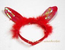 Easter Red Rabbit Sparkle Headband Warm Hat Cap Costume