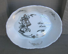 Old Vintage Lefton Silver Wedding Anniversary Open Candy Dish 03106 Japan