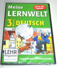 MEINE LERNWELT: GRUNDSCHULE DEUTSCH KLASSE 3 PC MAC NEU Lernsoftware Homeschool