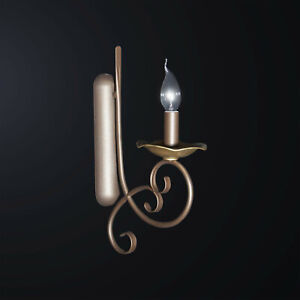 Applique Classic Wrought Iron Brown And Gold 1 Light Bga 3065-ap1