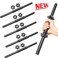 18/'/' Dumbbell Bar Spinlock Collars Weight Lifting  Gym Strength Dumbell Bars
