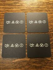 LED ZEPPELIN Set Of 4 Promo Drink Coasters Rare ZOSO Robert Plant Jimmy Page