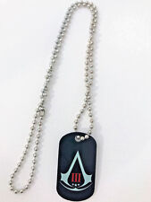 Assassins Creed 3 III NECKLACE - Logo Metal Dog Tag w/ Ball Neck Chain NEW