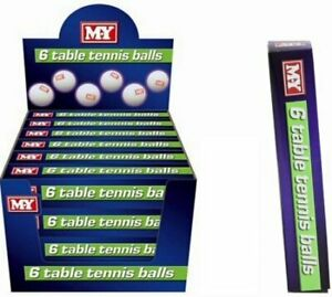 KandyToys M.Y Table Tennis Balls - Pack of 6 Balls