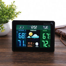 AU TS-70 Wireless Temperature Humidity Weather Station Forecast In/Outdoor Meter