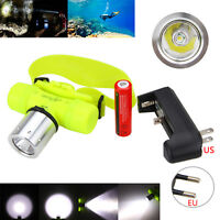 4000LM XM-L T6 LED Waterproof Headlamp Headlight 18650 Hand Torch Diving Light