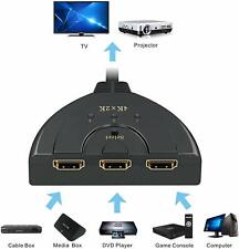 3 Port 4K HDMI 2.0 Cable Auto Splitter Switch HUB Switcher 3x1 Adapter 3D 3 to 1