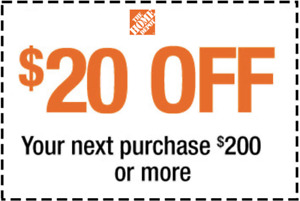 20 OFF-200 Home Depot 1Certificate Save$20USD-First Class Mail OR EEXPRESS_