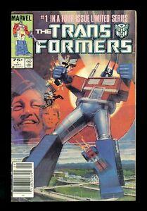 TRANSFORMERS #1 Marvel 1984 VG/FN Newstand 1st Optimus Prime & Autobots