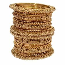 Indian Jewelry Gold Plated Bangles Set Handmade Traditional Wedding Bracelet