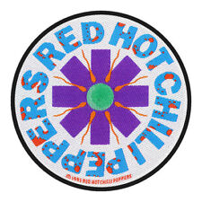 Logotipo esperma Red Hot Chili Peppers Round Sew On Patch Badge música oficial