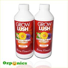 HYDRO BLOOM FORMULA GROWLUSH HYDROPONICS A&B 2 X 1 LITRE NUTRIENTS