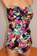 NWT Anne Cole Swimsuit Bikini 1 one piece Plus Sz 24W Multi Bandeau