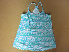 LOVELY CUTE BLUE & WHITE RACER BACK SINGLET TOP BY JAY JAYS - SIZE S - AUS10/ 12
