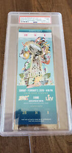 SUPER BOWL 54 LIV FULL TICKET SAN FRANCISCO 49ERS KANSAS CITY CHIEFS PSA 7 NM