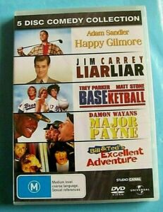 5 DISC COMEDY COLLECTION DVD Happy Gilmore Liar Liar Major Payne NEW SEALED R4