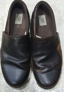 ULTRA RARE UGG REEFTON LEATHER SLIPPERS/SHOES VIBRAM SOLES MEN'S SIZE US13