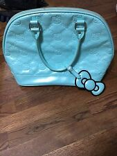 Hello Kitty Sanrio Loungefly Blue Teal Embossed Dome Handbag Purse