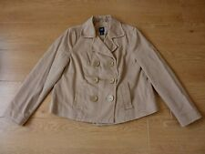 Gap Ladies Double Breasted Button up Beige Jacket Blazer Size LG