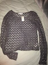 NWT Grey Knit Aeropostale sweater Women's size XS NEW MSRP $34.50